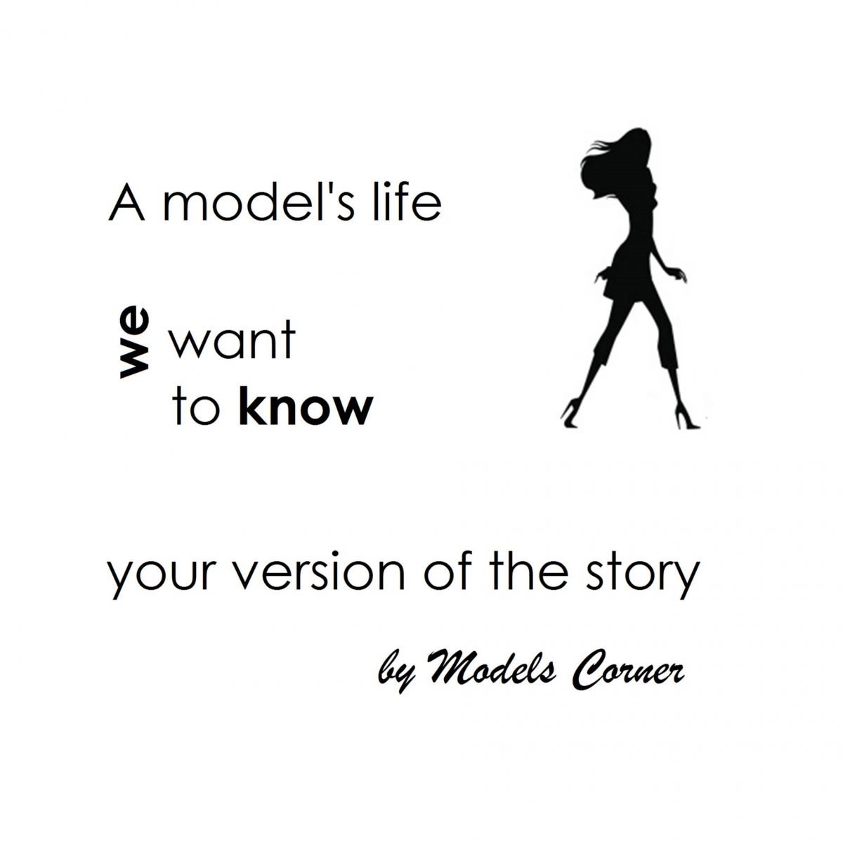 "The blog ""Models Life"" is born:  the life of models as they themselves see it"